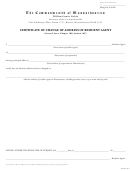 Certificate Of Change Of Address Of Resident Agent