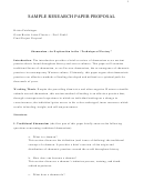 Sample Research Paper Proposal