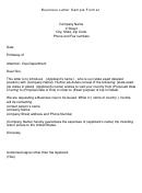 Business Letter Sample Format