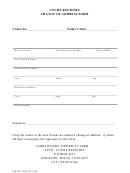 Court Registry Change Of Address Form