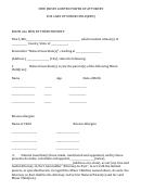 Power Of Attorney Form For Care Of Minor Nj