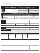 Mississippi Motor Title Application