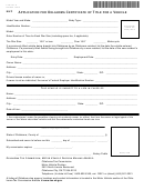 Application For Oklahoma Certificate Of Title For A Vehicle