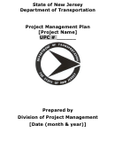 Project Management Plan Template - State Of New Jersey Department Of Transportation