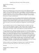 Sample External Reviewer Contact Follow Up Letter