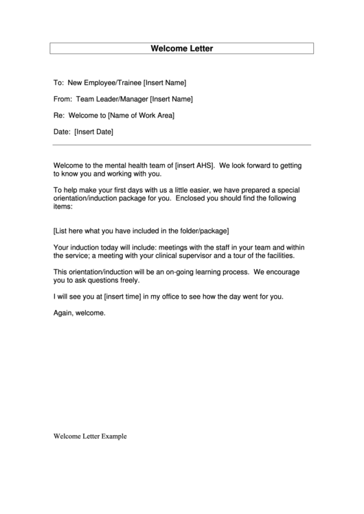 17 Welcome Letter free to download in PDF