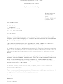 Scholarship Application Cover Letter