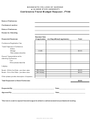 Conference Travel Budget Request Form