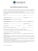Letter Of Residence From Landlord In Lieu Of Lease