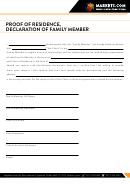 Proof Of Residence Letter Template - Declaration Of Family Member