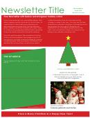 Sample Christmas Newsletter Template