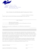 Letter Of Intent To Provide Medication And Or Nursing Service Task