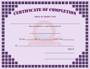 Course Certificate Completion