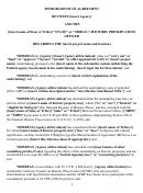 Sample Memorandum Of Agreement Template