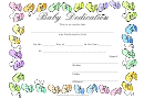 Baby Baby Dedication Certificate Template - Boots