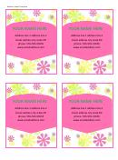 Address Label Template - Flowers