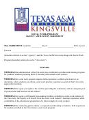 Social Work Program Agency Affiliation Agreement