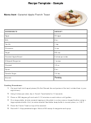 Recipe Template Sample