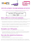 Invitation To Business Event