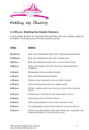 Sample Wedding Day Itinerary