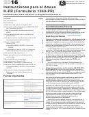 Instrucciones Para El Anexo H-pr (formulario 1040-pr)