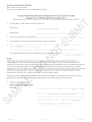 Form Amdrst_gp Sample - Amended And Restated Statement Of Registration For A General Partnership - 2017