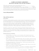 Sample Letter Of Agreement Between The Rector And The Church