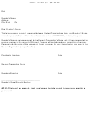 Sample Letter Of Agreement Template