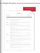 Sample Chronological Resume Template