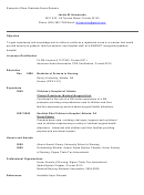 Example Of New Graduate Nurse Resume Template