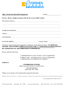 Overbrook School Mid-year Transcript Request Form