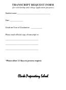 Sample Transcript Request Form