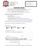 The King's Christian School Transcript Request Form