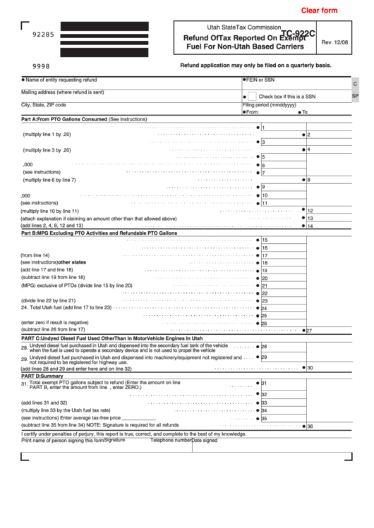 Top 35 Utah Tax Exempt Form Templates free to download in PDF ...