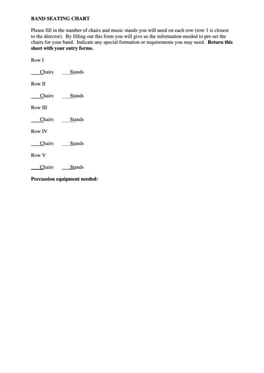 Band Seating Chart