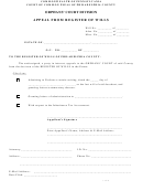 Appeal From Register Of Wills
