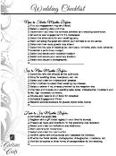 Wedding Checklist - Carlson Craft