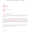 Interview Thank You Letter - Template