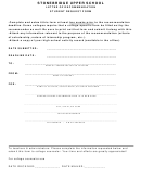 Stonebridge Upper School Letter Of Recommendation Student Request Form