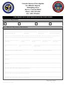 Colorado Sex Offender Registration Form