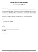 Financial Conflict Of Interest And Disclosure Form