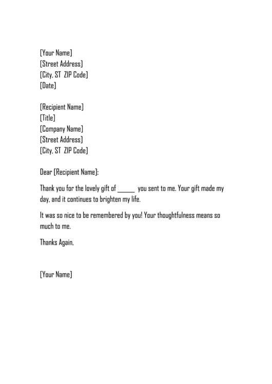 Sample Thank You Letter For Donation Of Goods Template