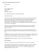 Approval/conditional Approval Letter Template