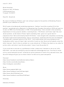 Cover Letter Template - Marketing Director