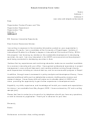 Sample Internship Cover Letter