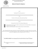 Notice Of Intent To Dissolve - Georgia Secretary Of State