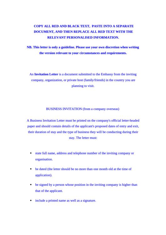 Immigration Letter Printable pdf