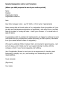 Sample Resignation Letter And Template