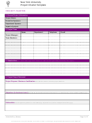 New York University Project Charter Template