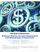 Balance Sheets, Income Statements And Statements Of Cash Flow